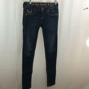 Rock Revival Calli Skinny Dark Wash Jeans